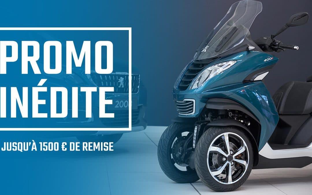 [OFFRE TERMINÉE] Promo Réouverture – Jusqu'à 1500 € de remise immédiate sur Peugeot et Voge
